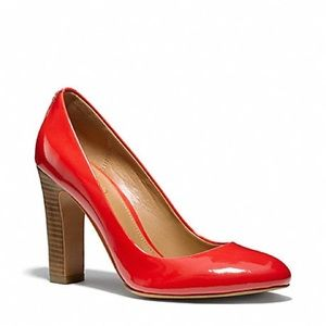 Coach | Shelley Red Patent Leather Pumps Heels 8